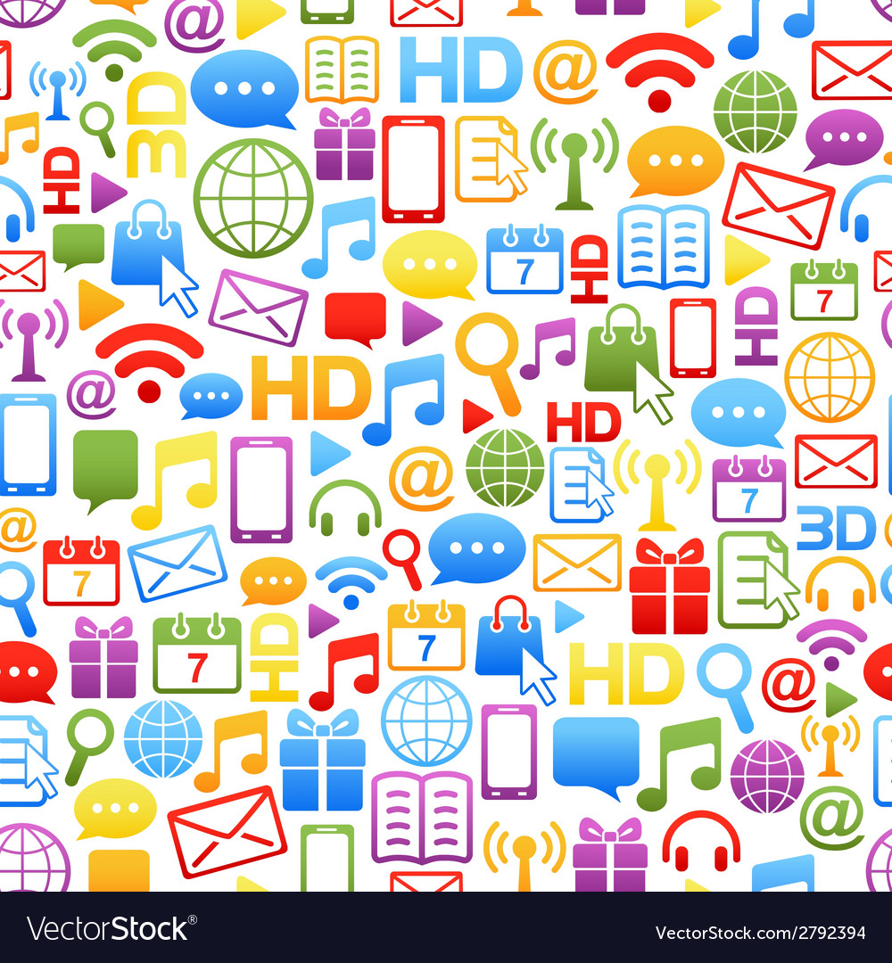 Background made from colorful network icons vector | Price: 1 Credit (USD $1)