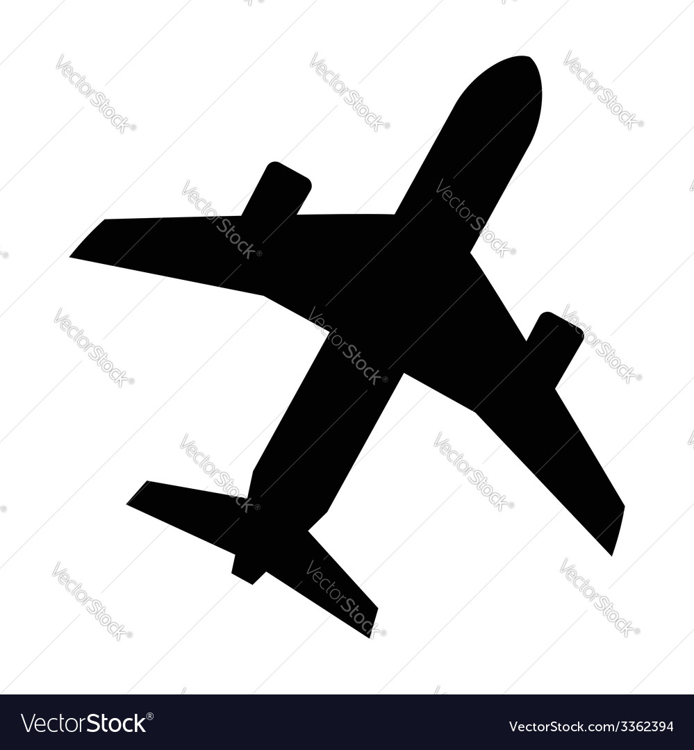 Black airplane vector | Price: 1 Credit (USD $1)