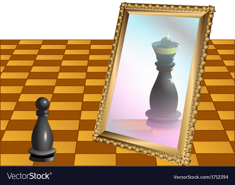 Chess pawn as the queen vector | Price: 1 Credit (USD $1)