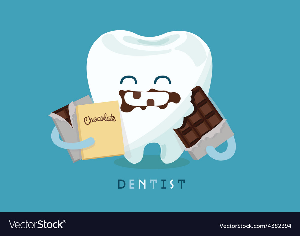 Chocolate tooth vector | Price: 1 Credit (USD $1)