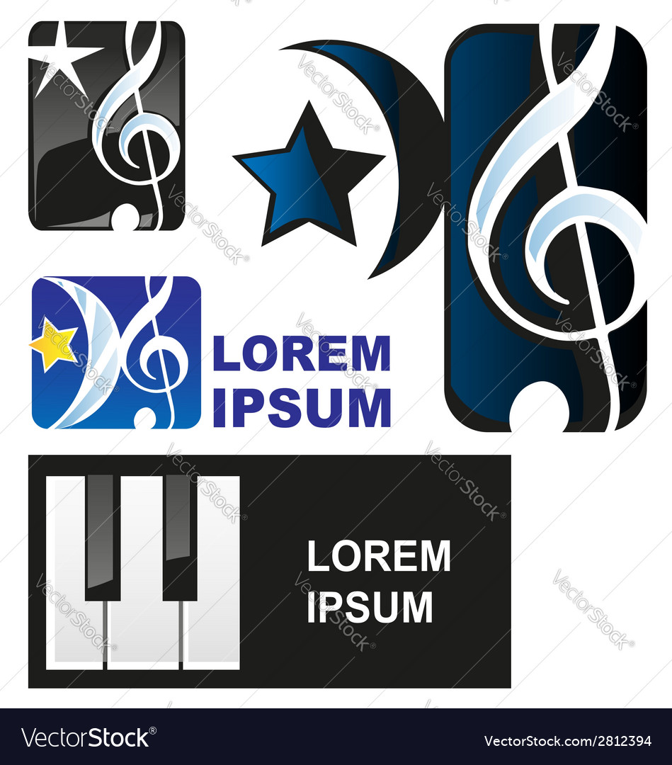 Classical music symbol vector | Price: 1 Credit (USD $1)
