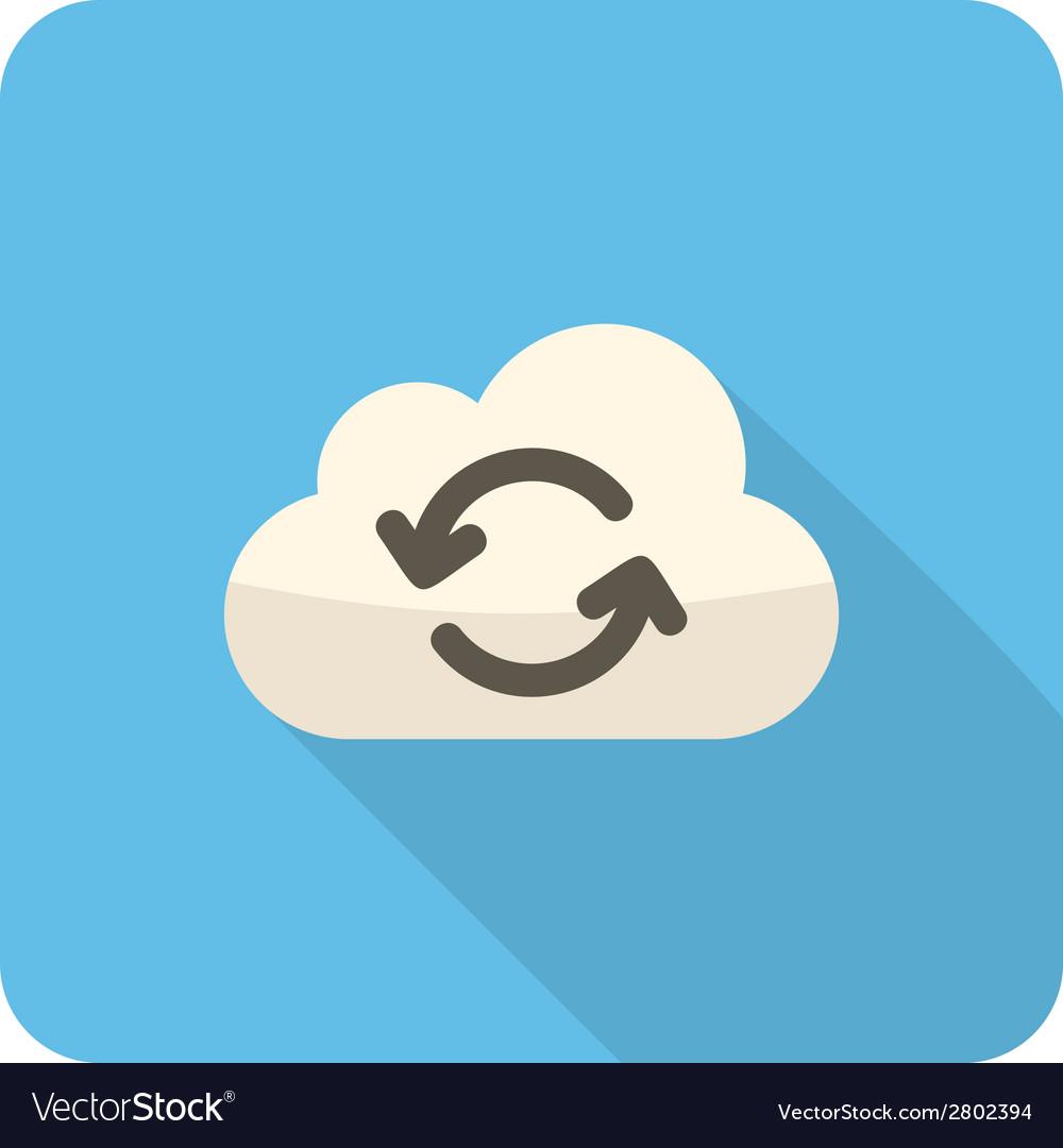 Cloud refresh icon vector   Price: 1 Credit (USD $1)
