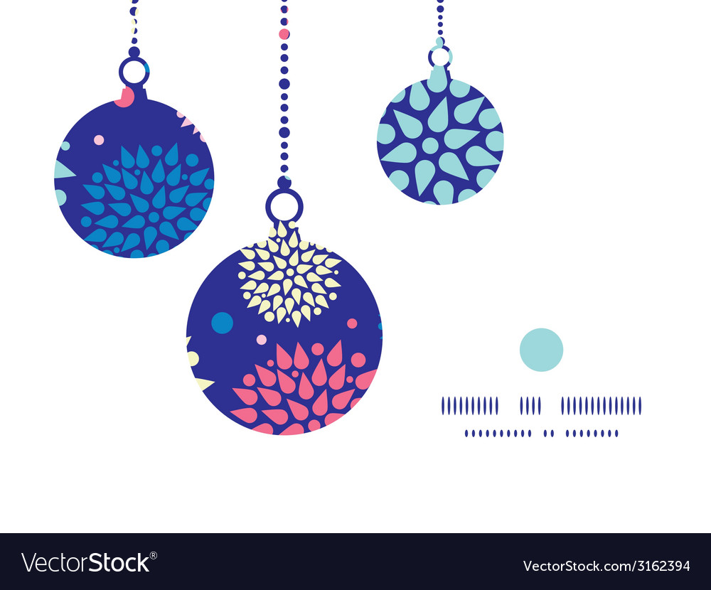 Colorful bursts christmas ornaments silhouettes vector | Price: 1 Credit (USD $1)