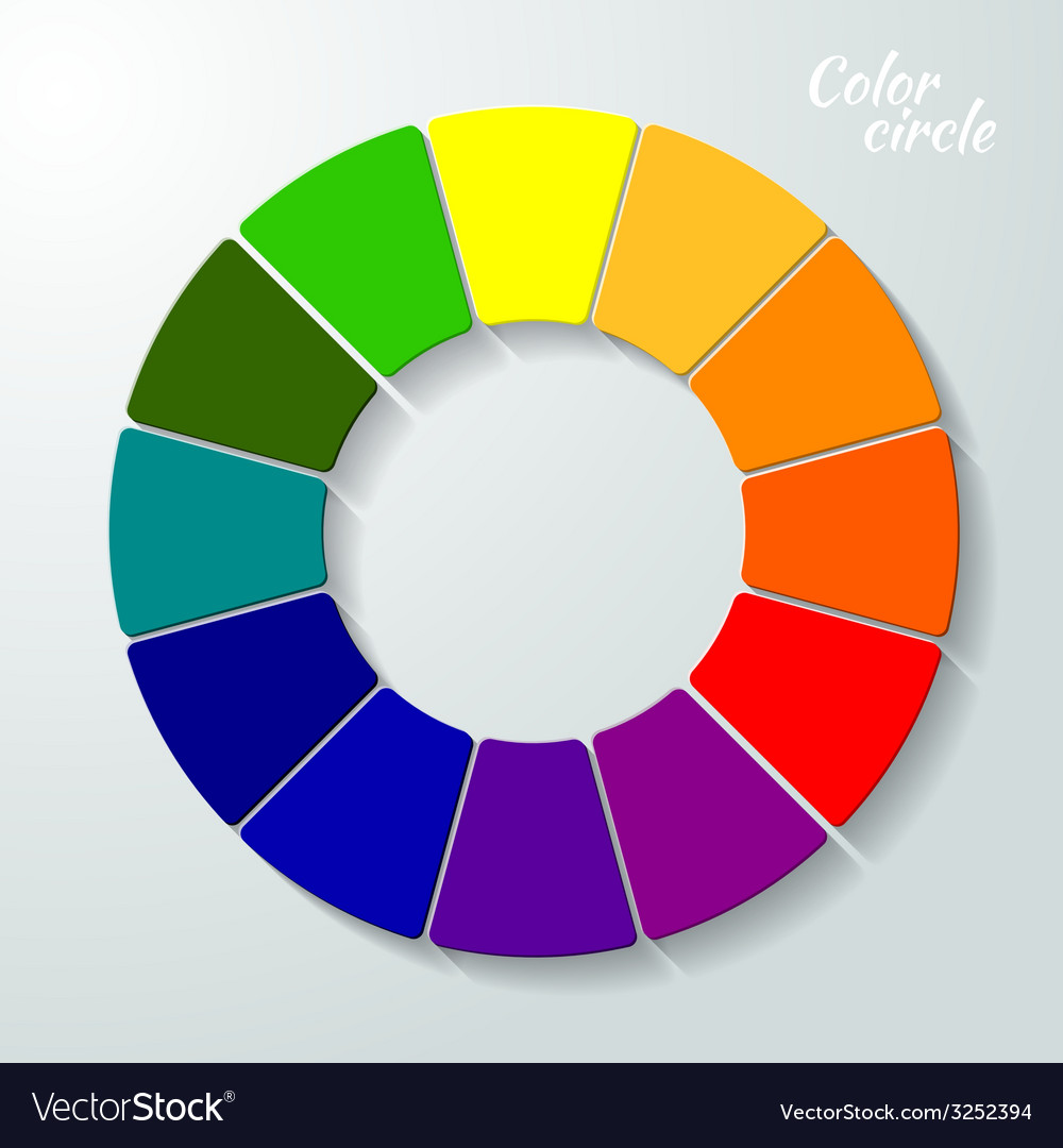 Colorful wheel concept vector | Price: 1 Credit (USD $1)