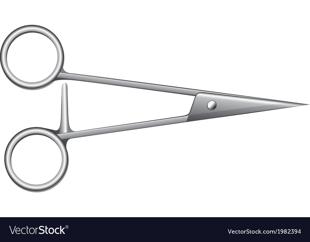 First aid scissors vector | Price: 1 Credit (USD $1)