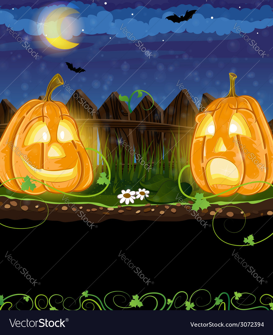 Funny jack o lanterns vector | Price: 3 Credit (USD $3)