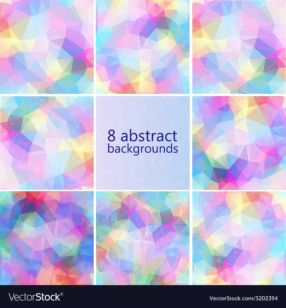 Geometric hipster retro background set vector | Price: 1 Credit (USD $1)