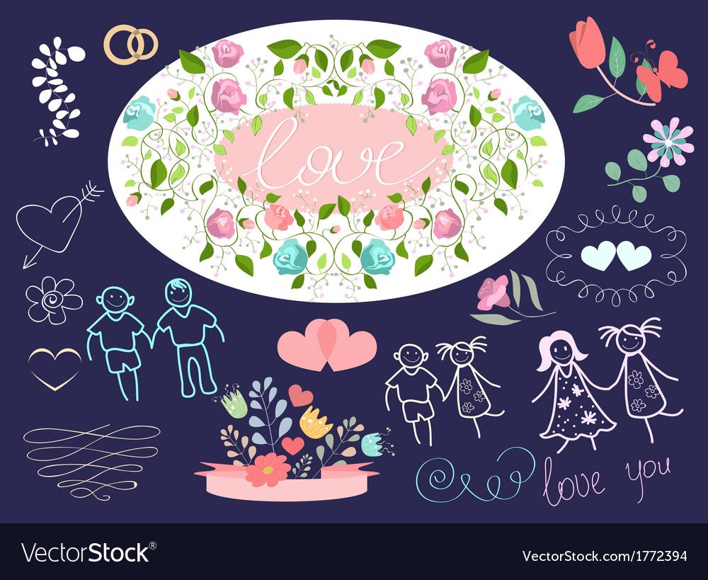Icons wedding vector | Price: 1 Credit (USD $1)