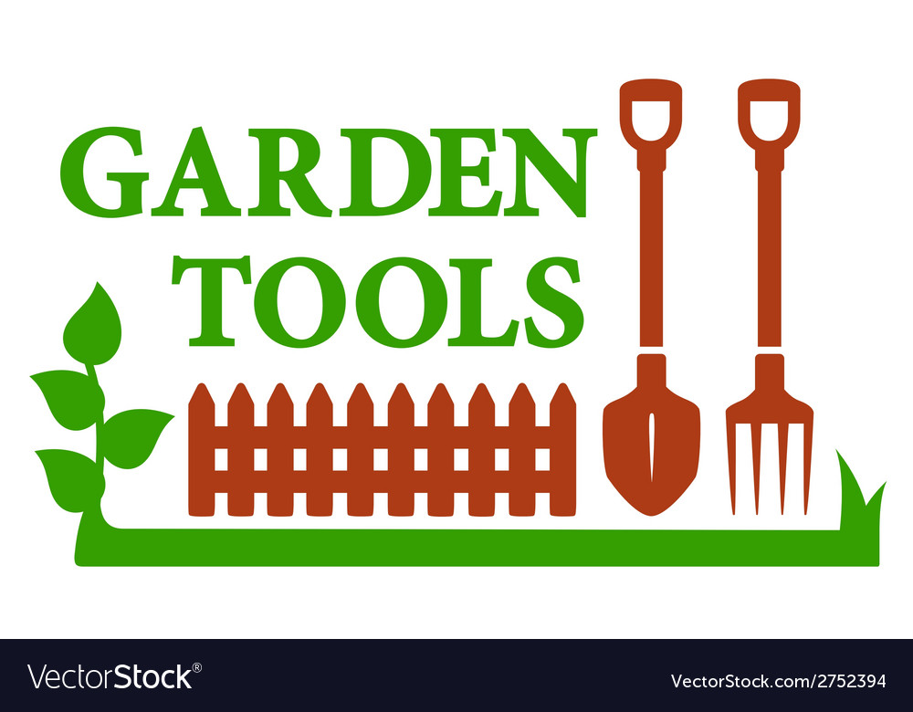Landscaping icon with garden tools vector | Price: 1 Credit (USD $1)