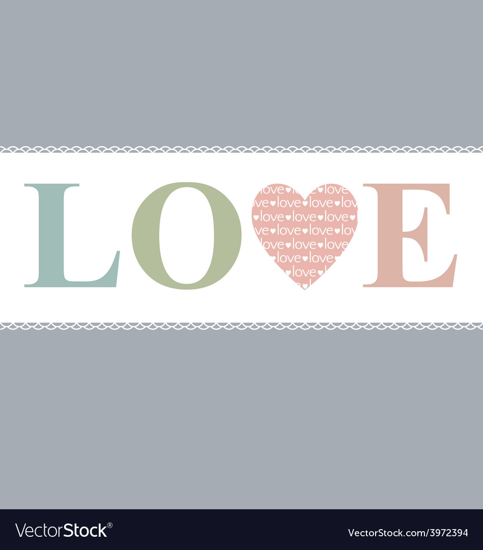 Love in heart retro pastel vector | Price: 1 Credit (USD $1)