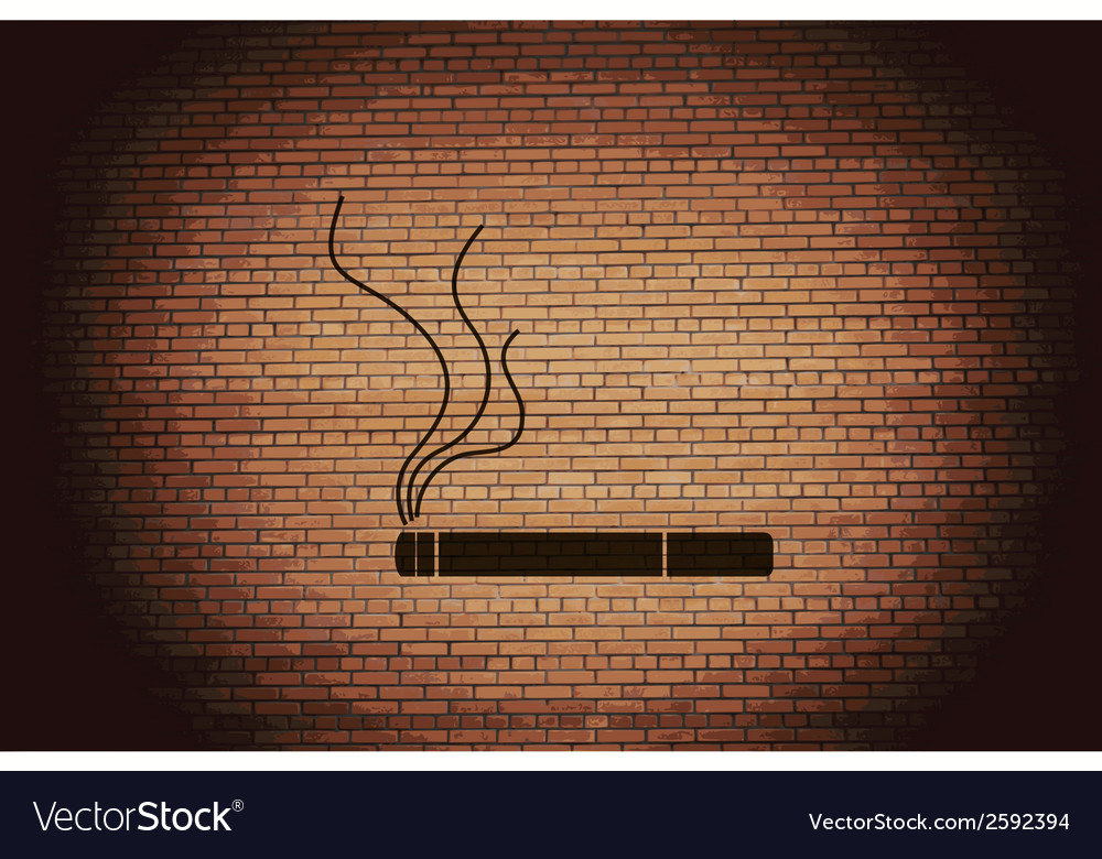 Smoking sign cigarette flat modern web button and vector | Price: 1 Credit (USD $1)