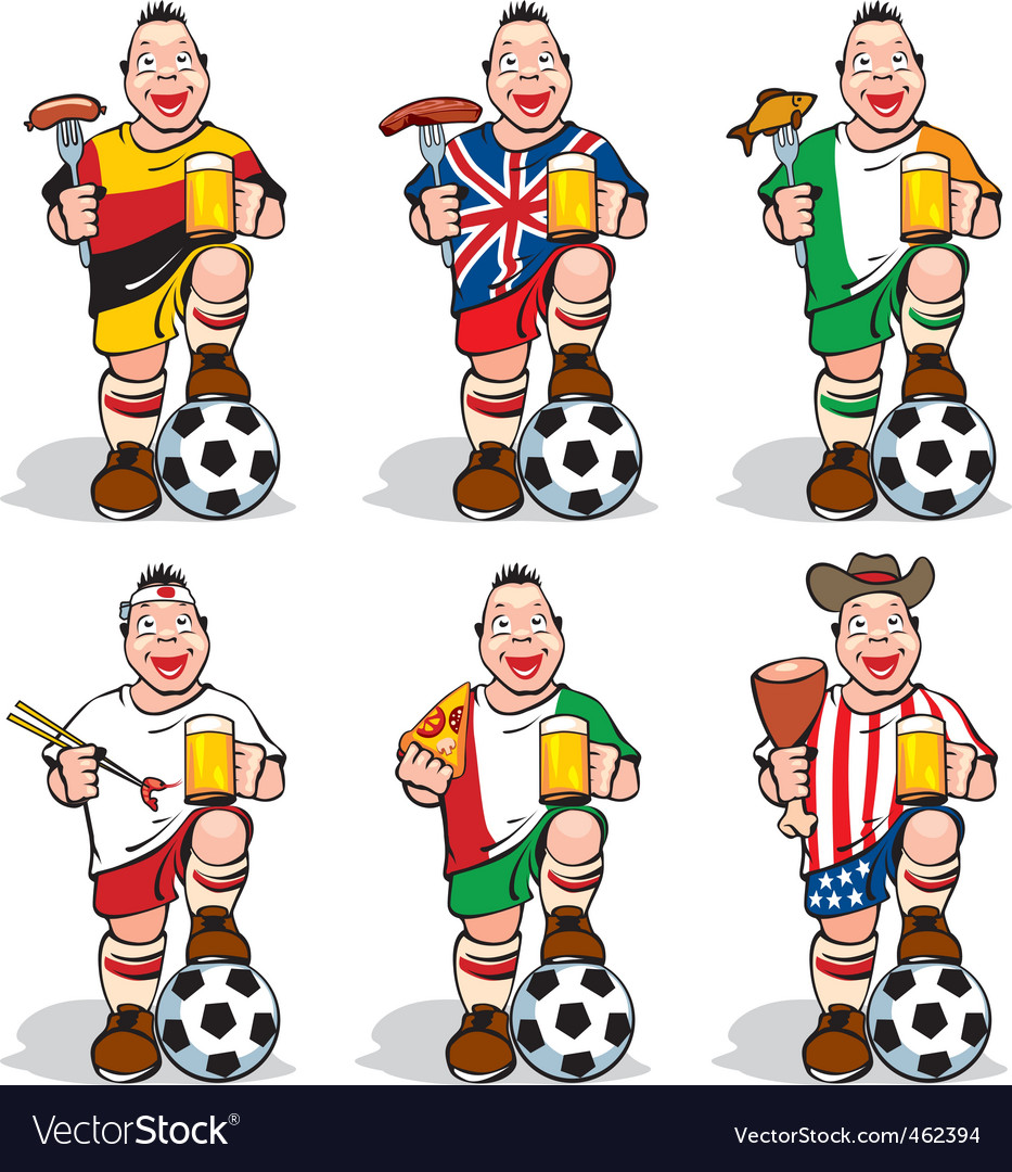 Soccer fans at sport bar vector | Price: 3 Credit (USD $3)