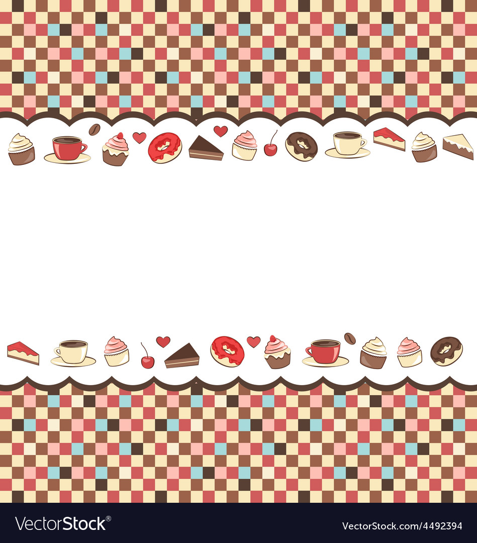 Sweets frame on mosaic vector   Price: 1 Credit (USD $1)