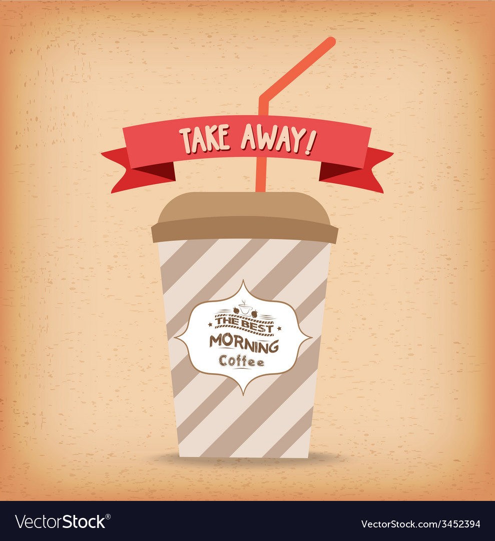 Take-away fast food coffee paper cup template vector | Price: 1 Credit (USD $1)