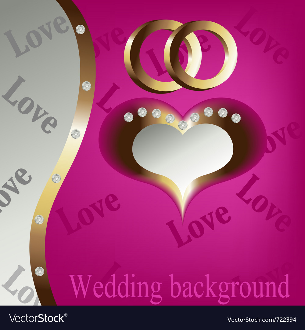 Wedding heart background vector | Price: 1 Credit (USD $1)