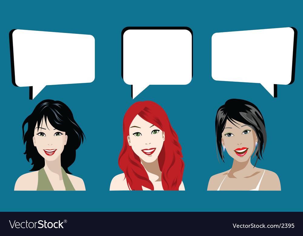 Chatting vector | Price: 3 Credit (USD $3)