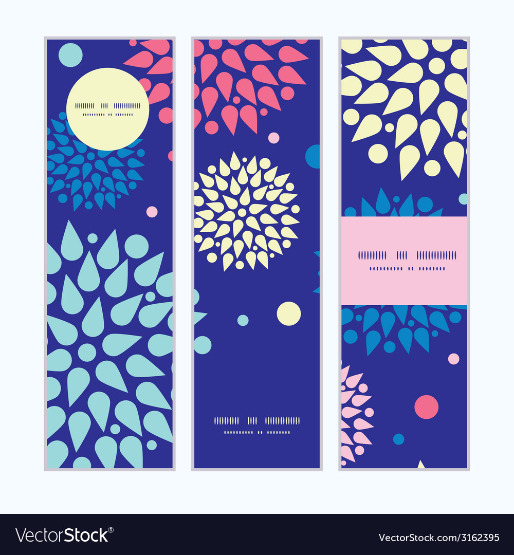 Colorful bursts vertical banners set pattern vector | Price: 1 Credit (USD $1)