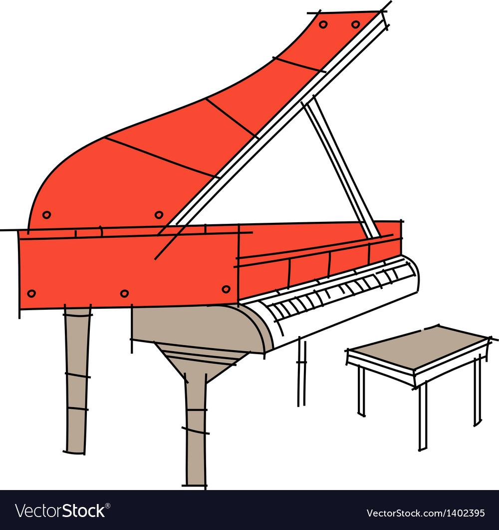 Icon piano vector   Price: 1 Credit (USD $1)
