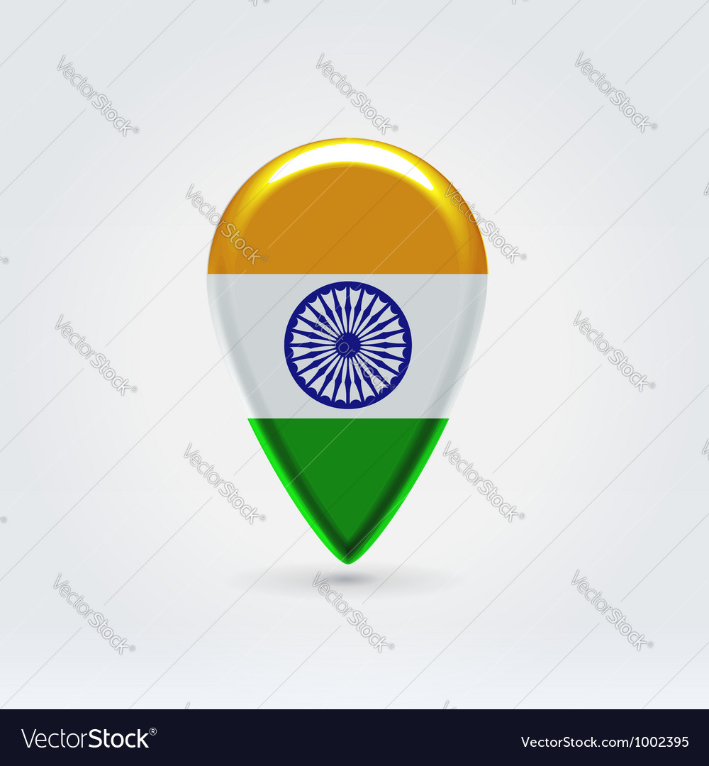 Indian icon point for map vector | Price: 1 Credit (USD $1)