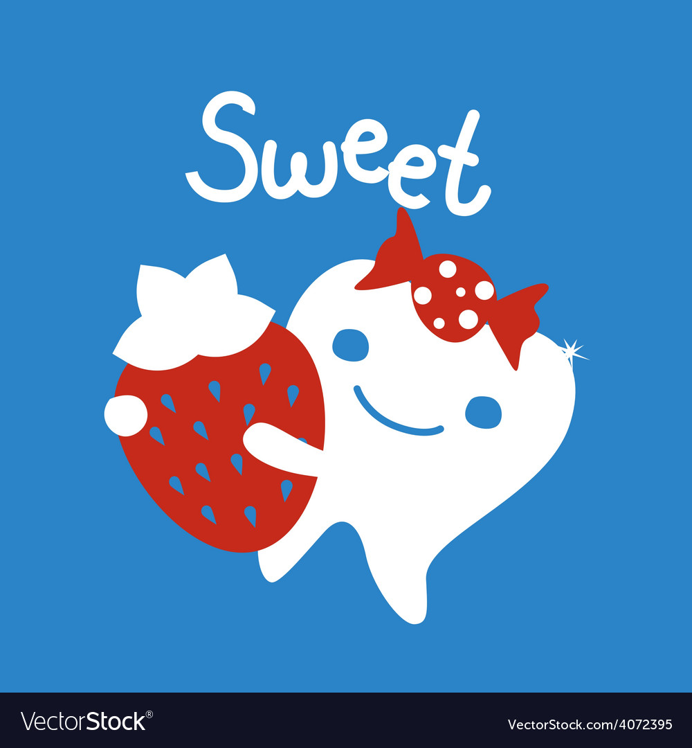 Sweet tooth cartoon character vector | Price: 1 Credit (USD $1)