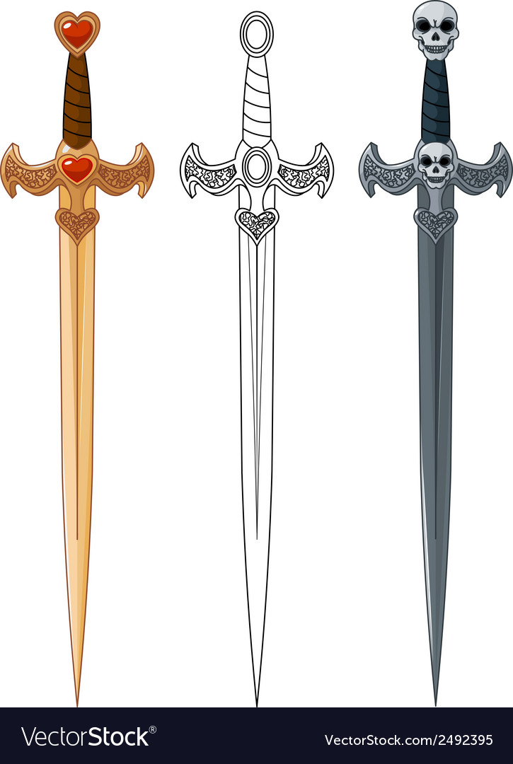 Three swords vector | Price: 1 Credit (USD $1)