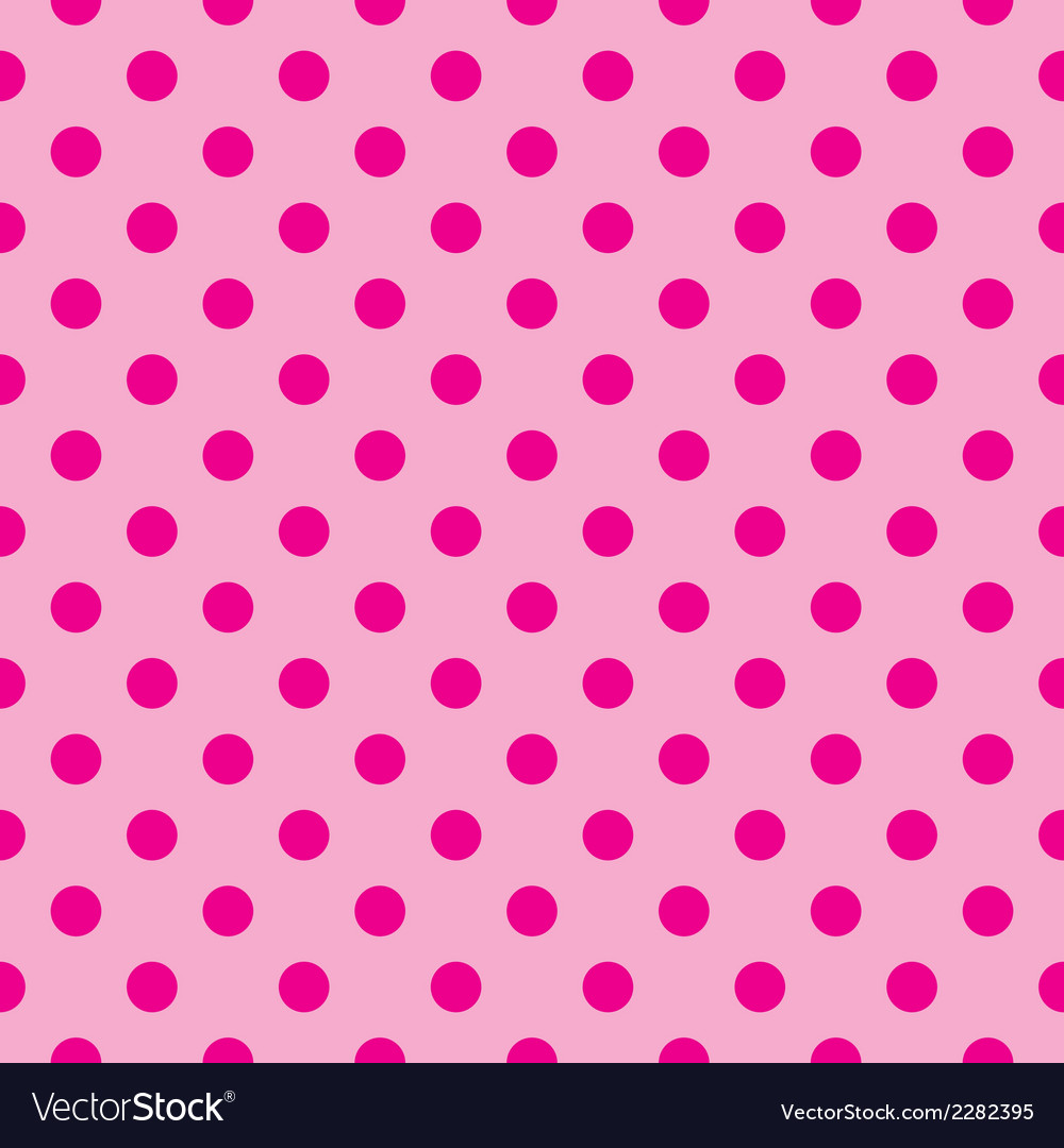 Tile pink background with polka dots vector | Price: 1 Credit (USD $1)