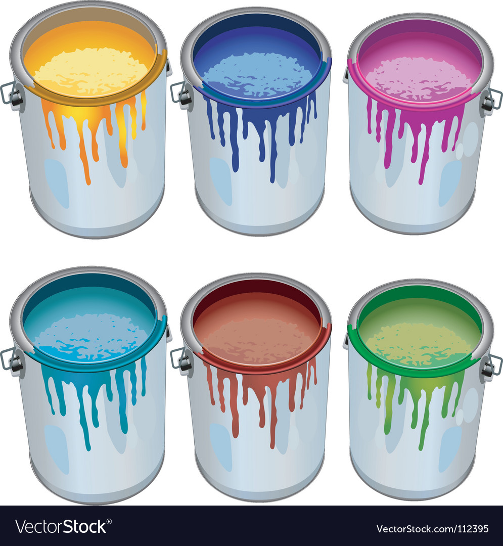 Tins with paint vector | Price: 1 Credit (USD $1)