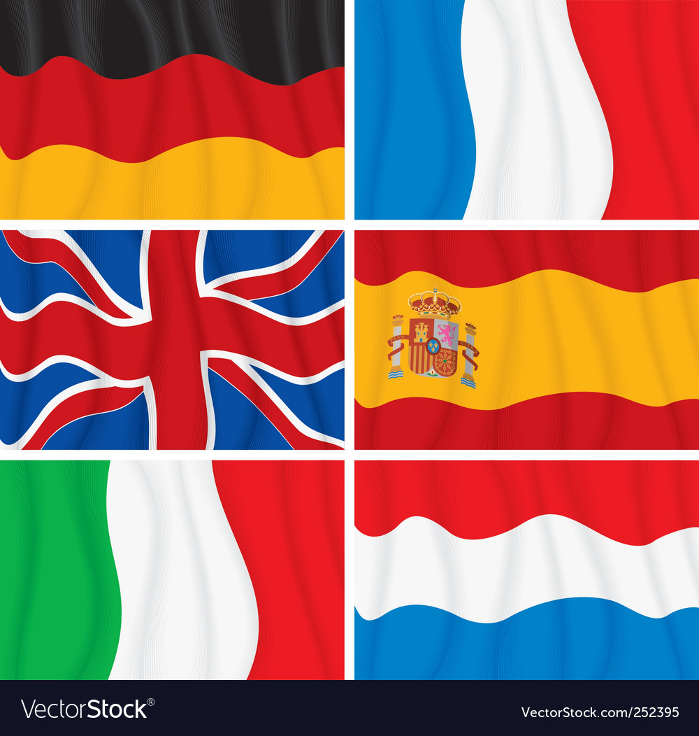 Windy flags vector | Price: 3 Credit (USD $3)