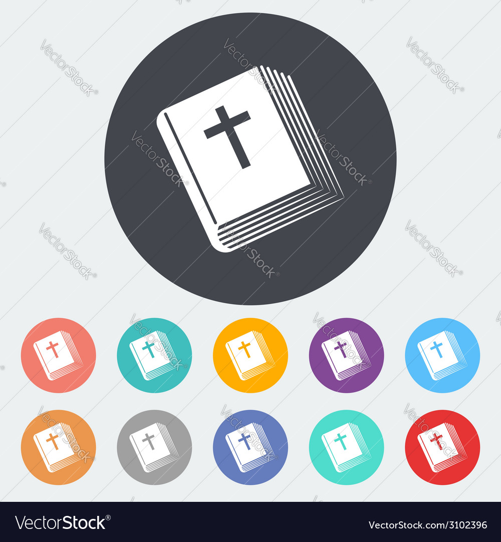 Bible single icon vector | Price: 1 Credit (USD $1)