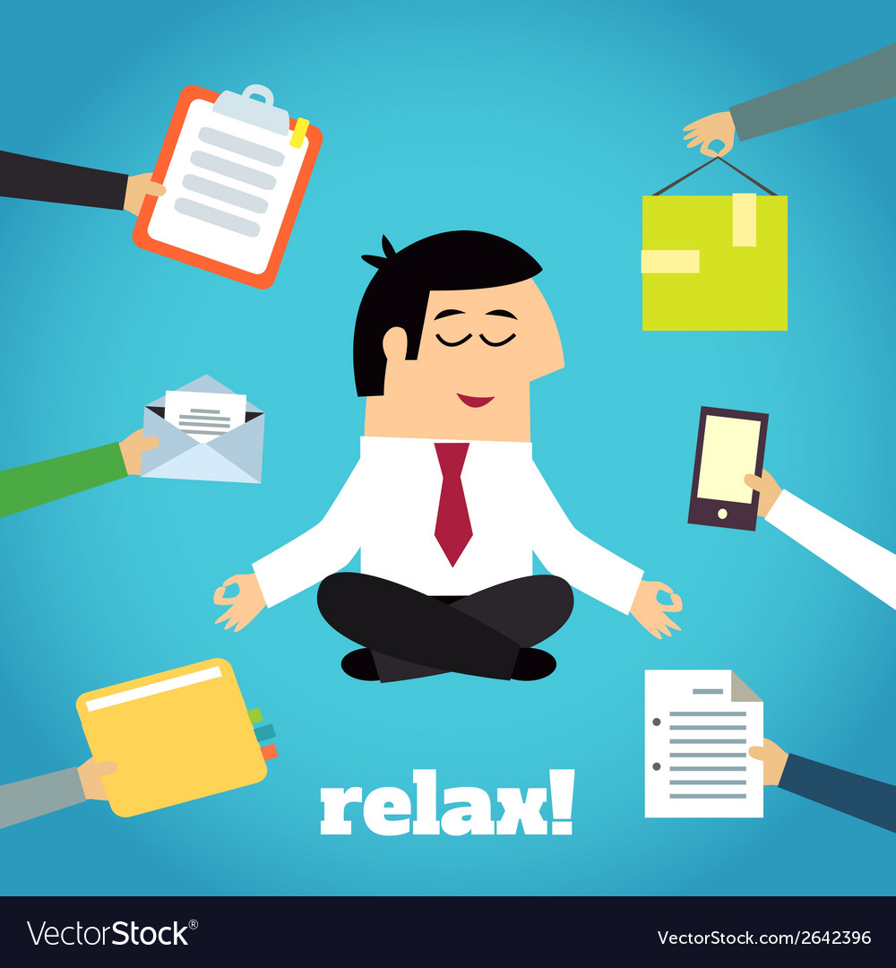 Businessman yoga relaxing vector | Price: 1 Credit (USD $1)