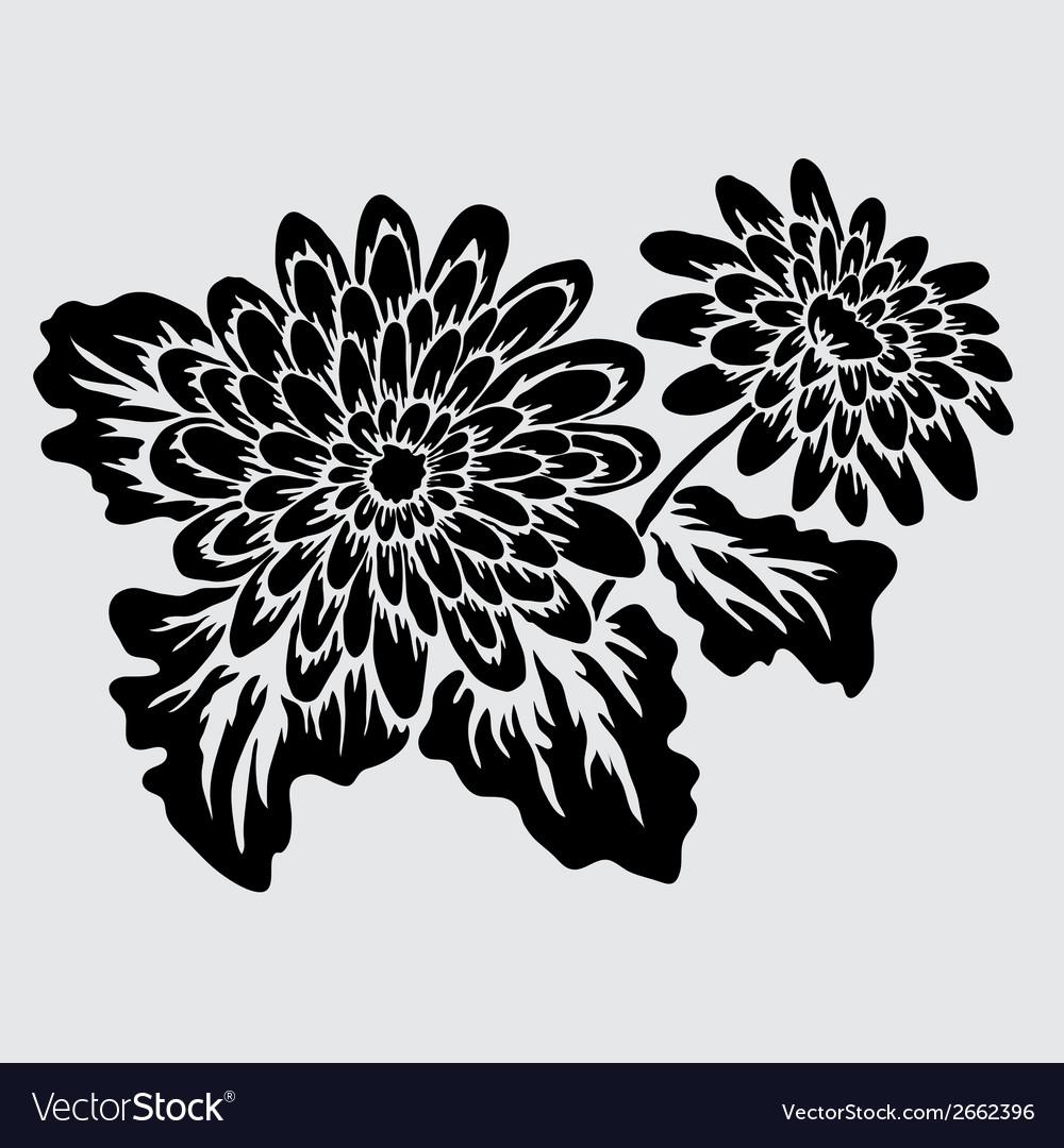 Decorative gerbera vector | Price: 1 Credit (USD $1)