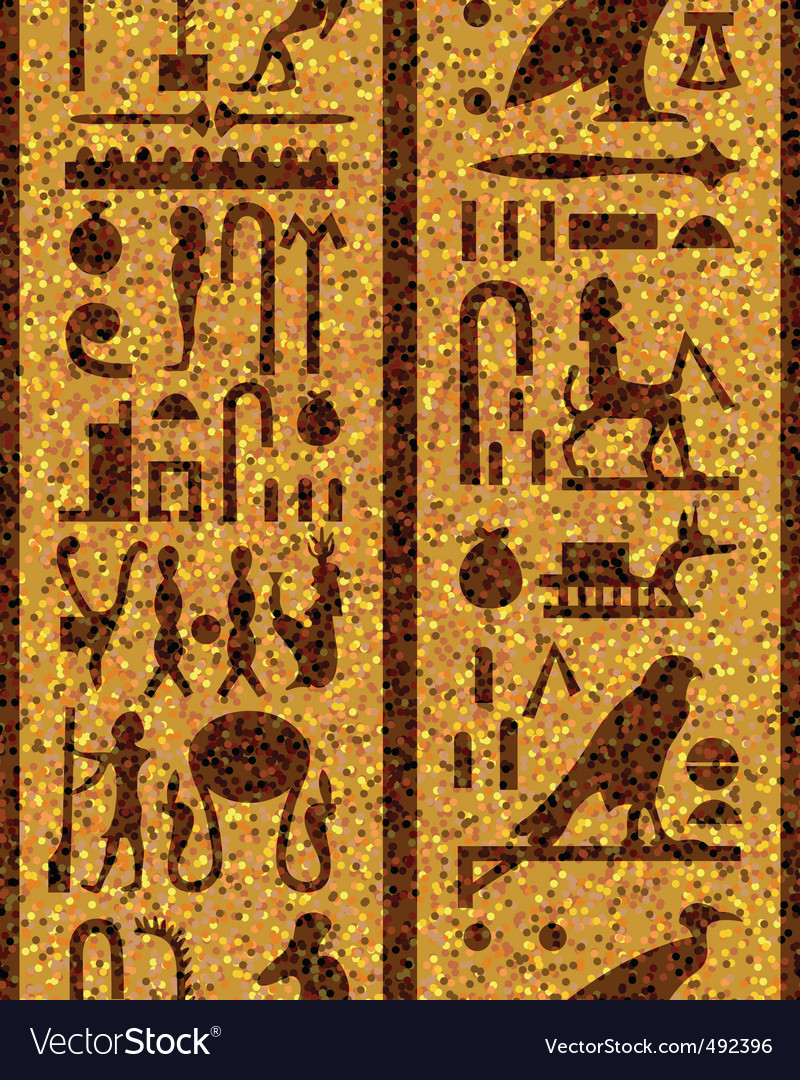 Egyptian seamless hieroglyphs vector | Price: 1 Credit (USD $1)