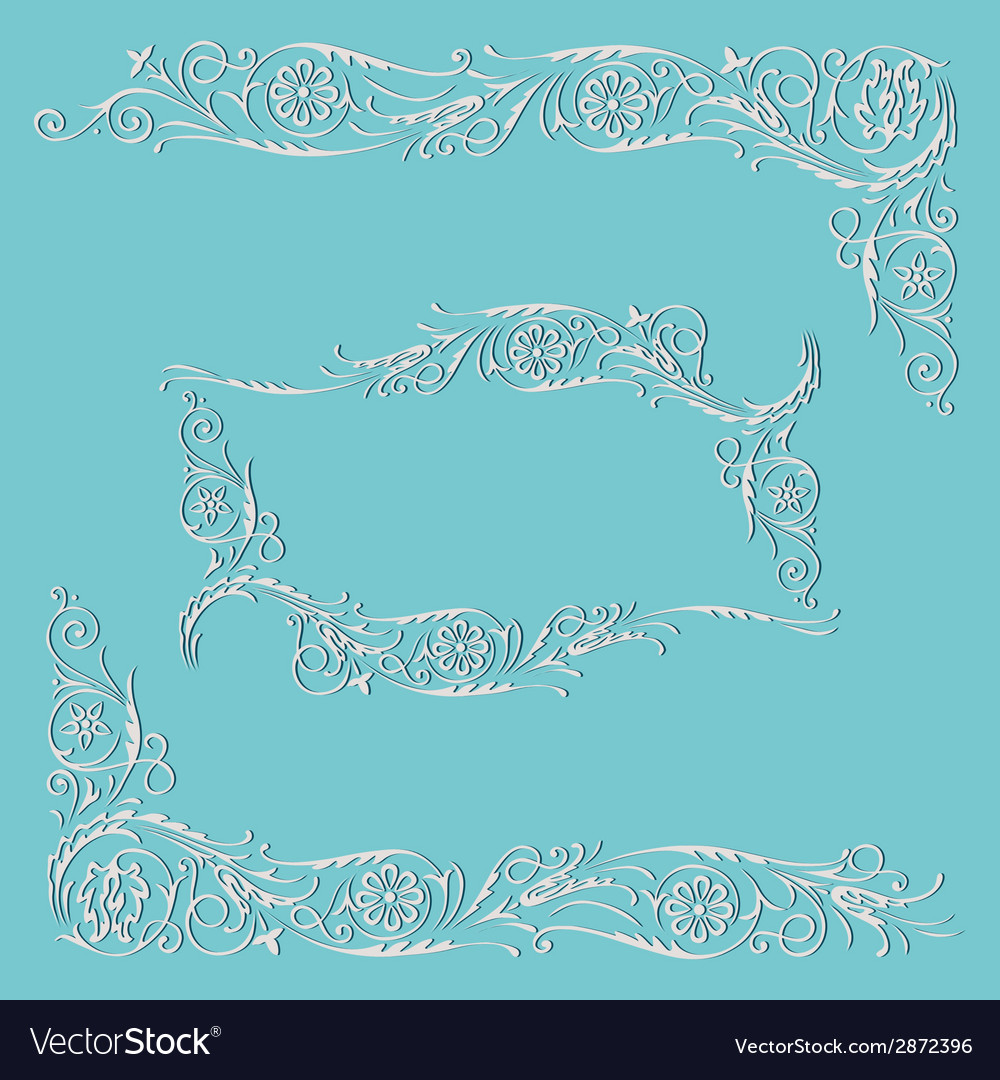 Frame floral decorative pattern vector | Price: 1 Credit (USD $1)