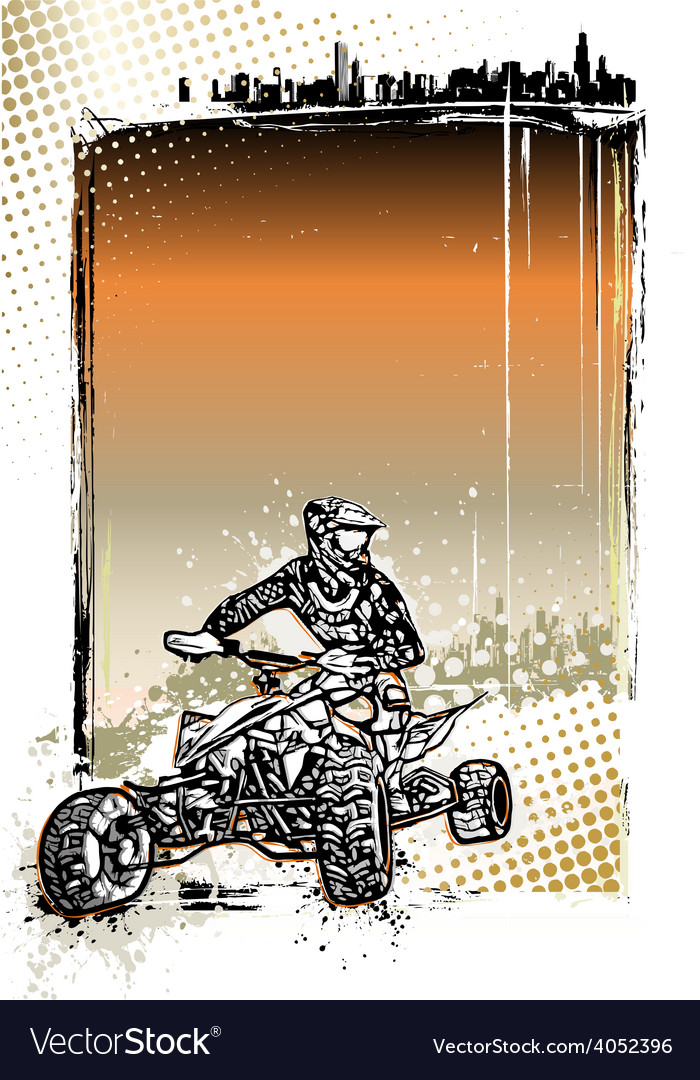 Quad bike poster vector | Price: 3 Credit (USD $3)