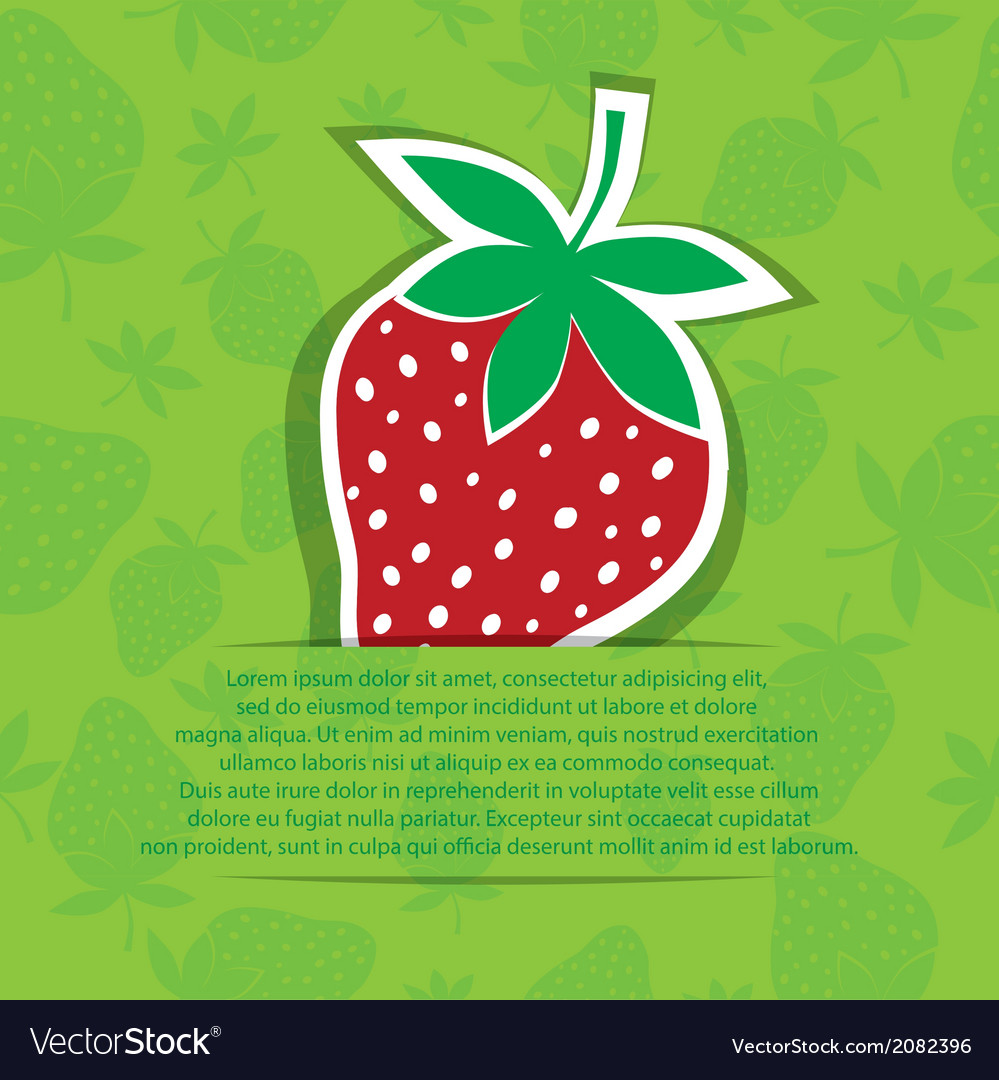 Strawberry in pocket banner on seamless vector | Price: 1 Credit (USD $1)