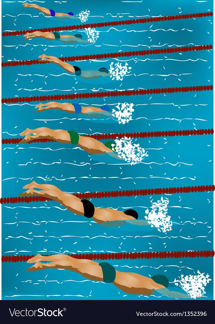 Swimming vector | Price: 1 Credit (USD $1)