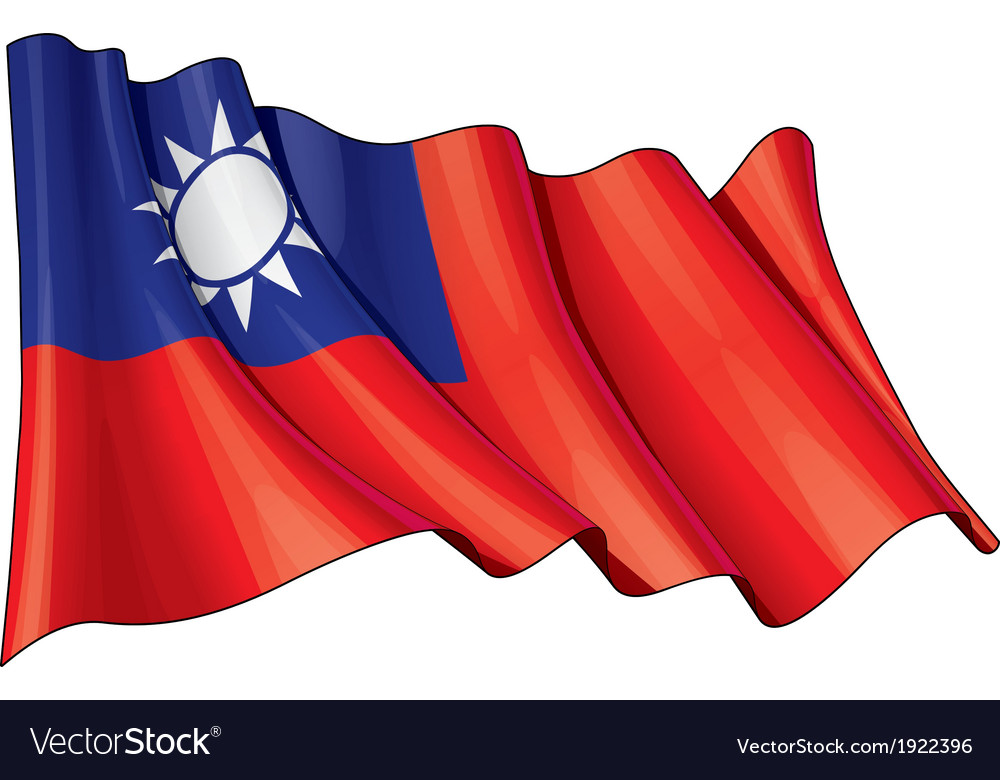 Taiwan flag vector   Price: 1 Credit (USD $1)