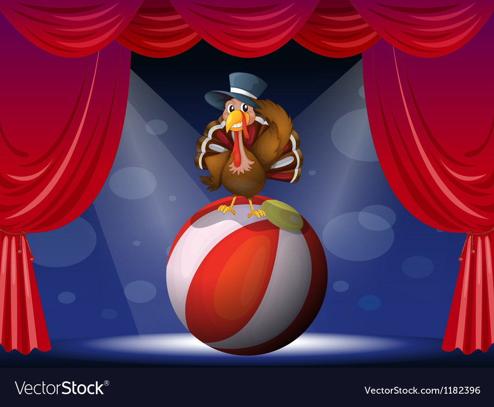 Turkey circus play vector | Price: 1 Credit (USD $1)