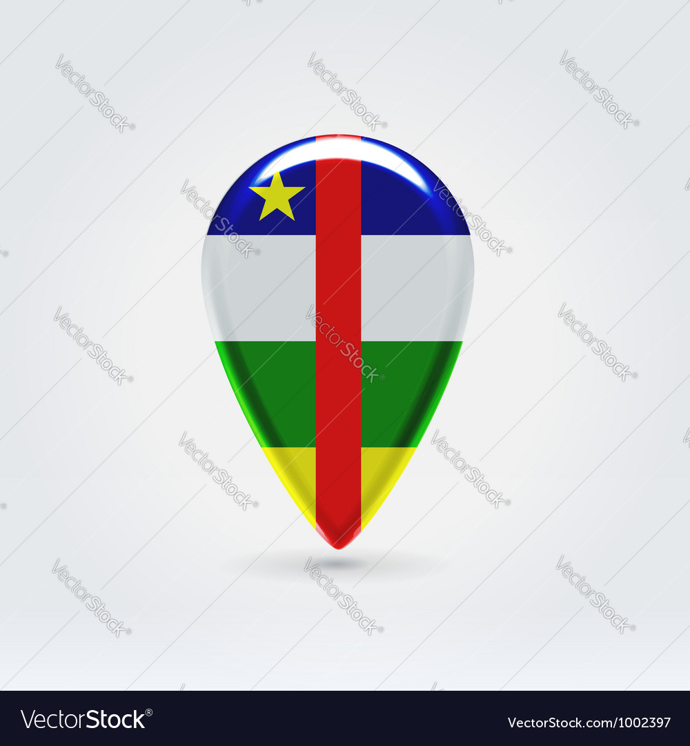 Central african repubic icon point for map vector | Price: 1 Credit (USD $1)