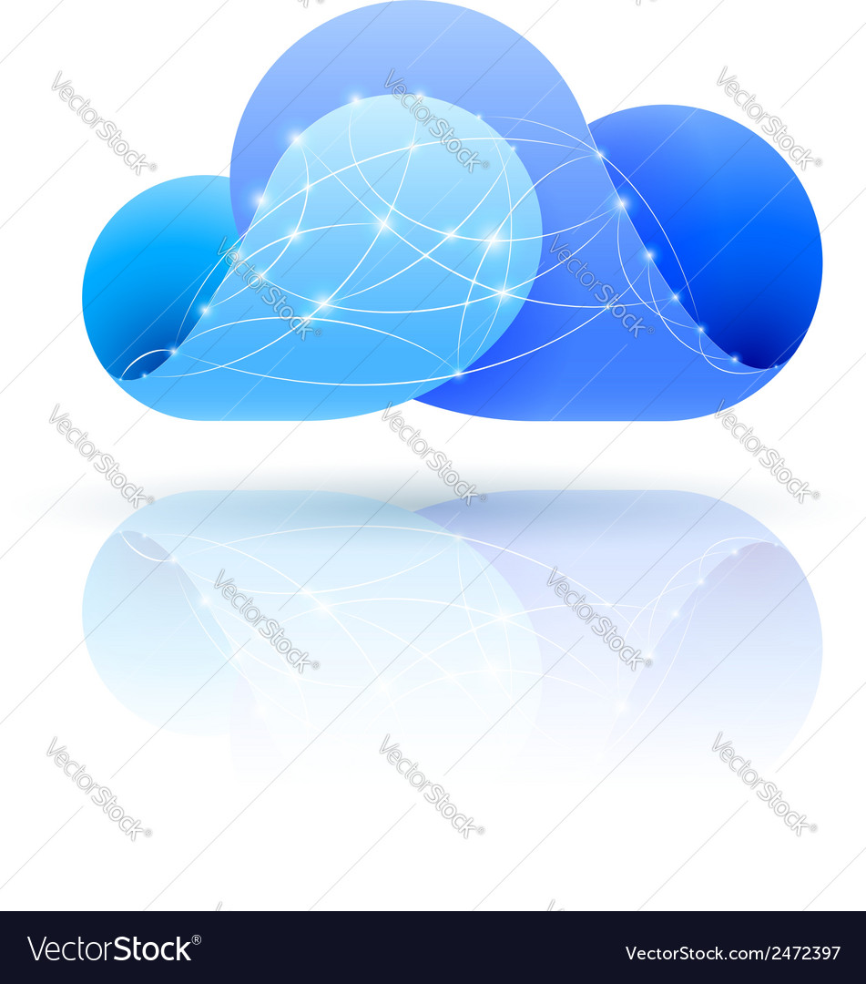 Digital cloud vector | Price: 1 Credit (USD $1)
