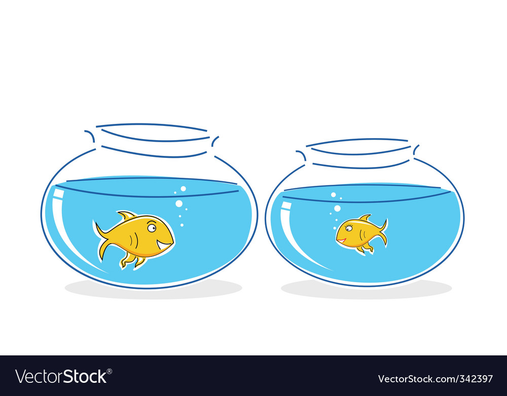 Fish in tank vector | Price: 1 Credit (USD $1)