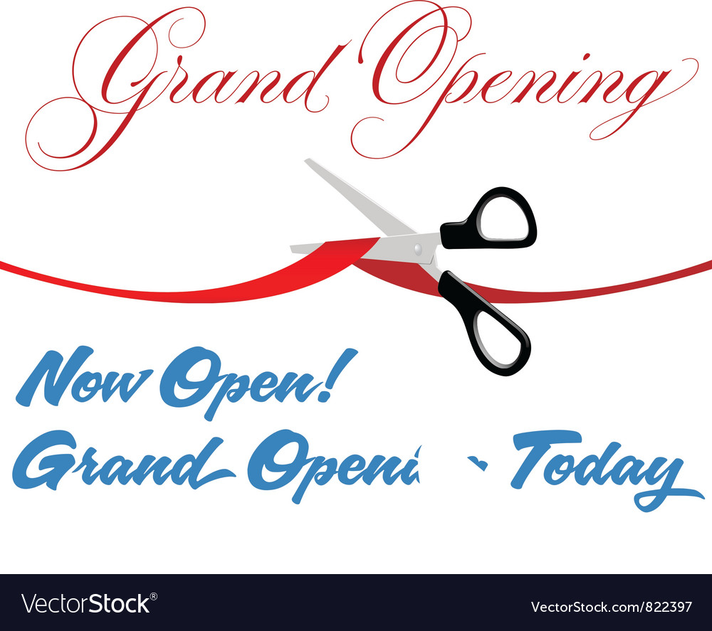 Grand opening background vector | Price: 1 Credit (USD $1)