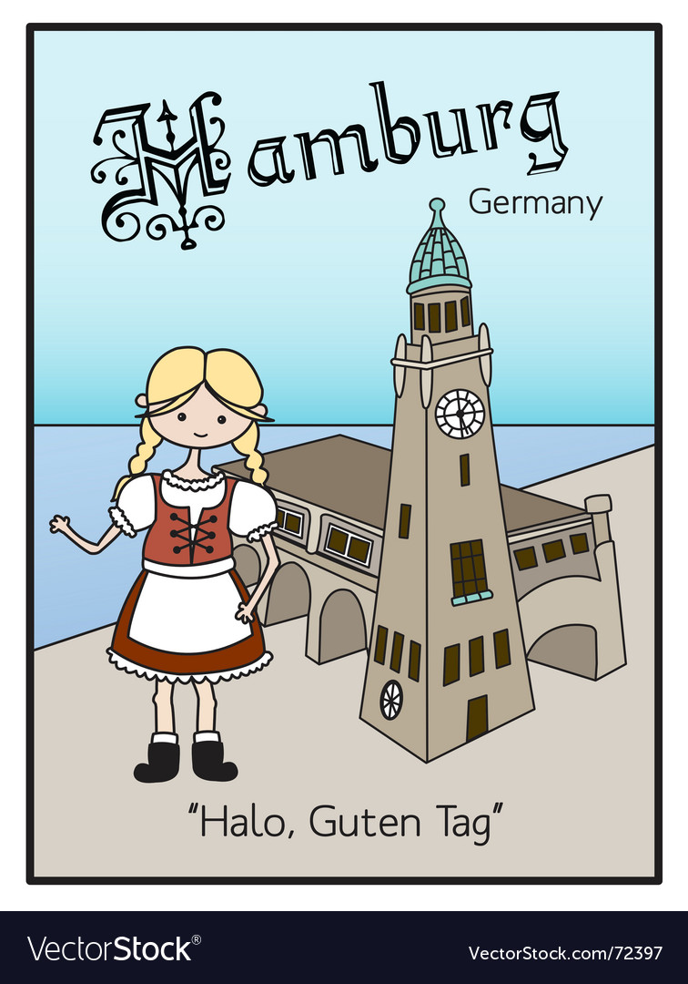 Hamburg germany vector | Price: 1 Credit (USD $1)