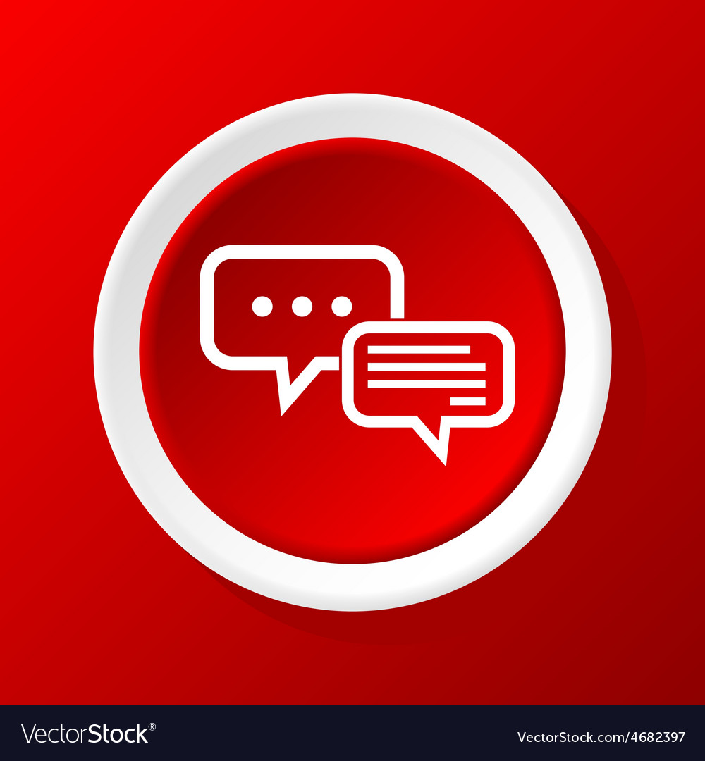 Typing answer icon on red vector | Price: 1 Credit (USD $1)