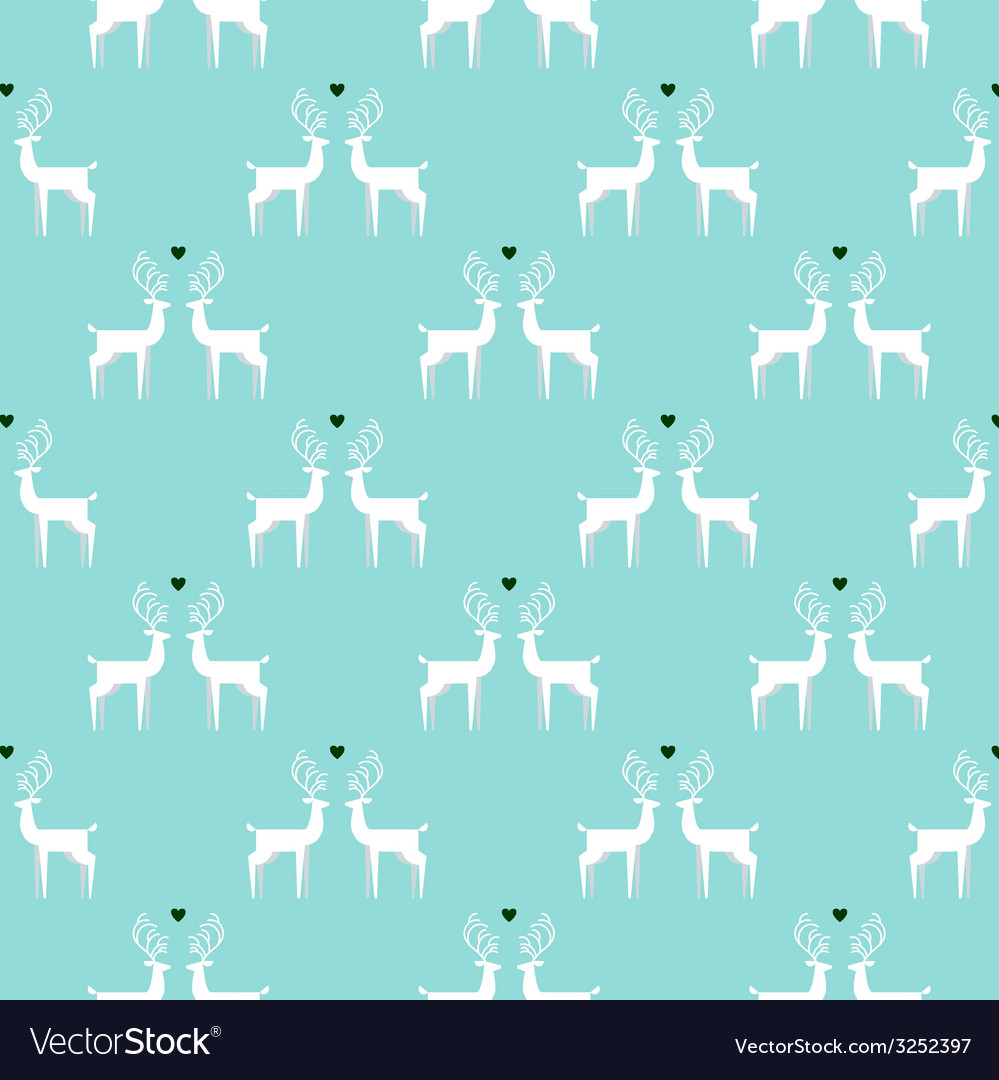 Vintage christmas colors seamless pattern vector | Price: 1 Credit (USD $1)
