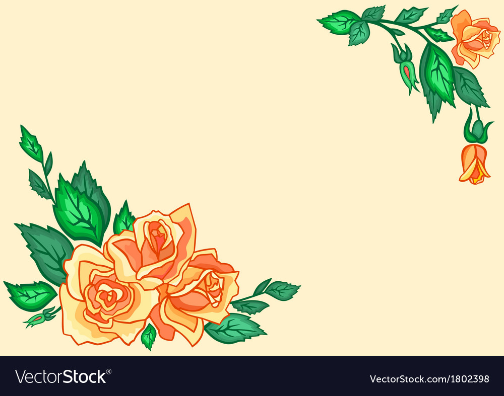 Abstract tea roses vector | Price: 1 Credit (USD $1)