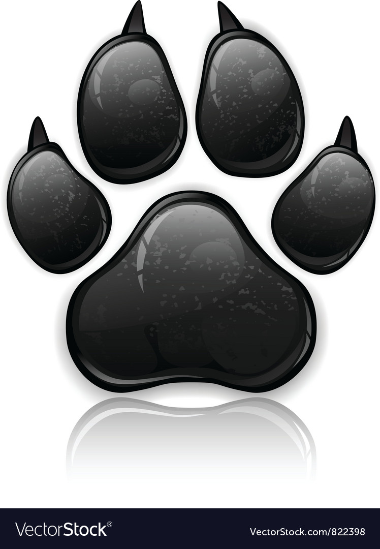 Black paw vector | Price: 3 Credit (USD $3)