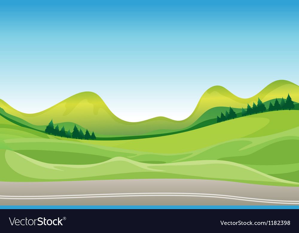 Countryside road vector | Price: 1 Credit (USD $1)