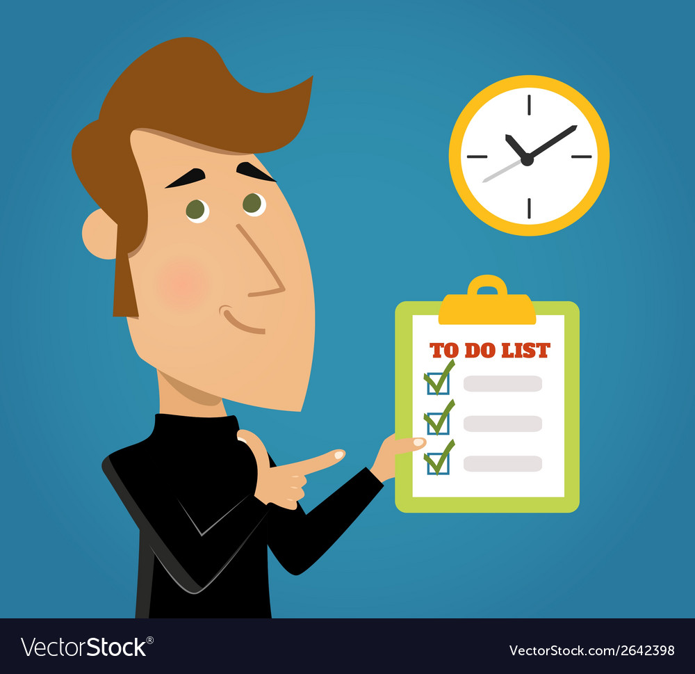 Done todo list vector | Price: 1 Credit (USD $1)
