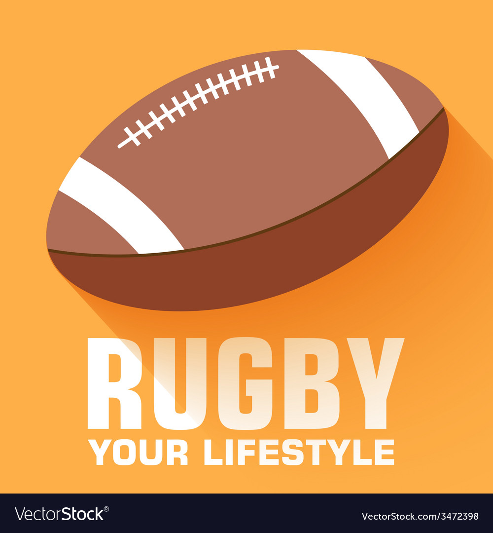 Flat sport rugby background concept design vector | Price: 1 Credit (USD $1)
